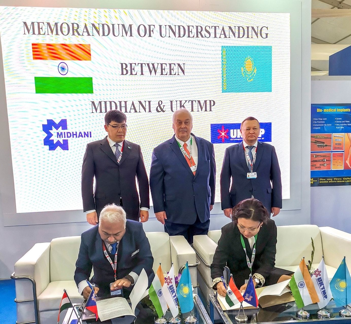A MEMORANDUM of UNDERSTANDING SIGNED BETWEEN UKTMP JSC AND MIDHANI (INDIA)